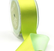 1.5 Inch Single Faced Satin / Reversible Iridescent Ribbon - 422-15-46 Celery/Lt Green