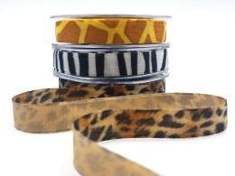 5/8 Inch Velvet / Animal Print Ribbon