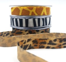 5/8 Inch Velvet / Animal Print Ribbon