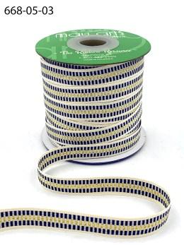 Gold Striped Cotton Ribbon