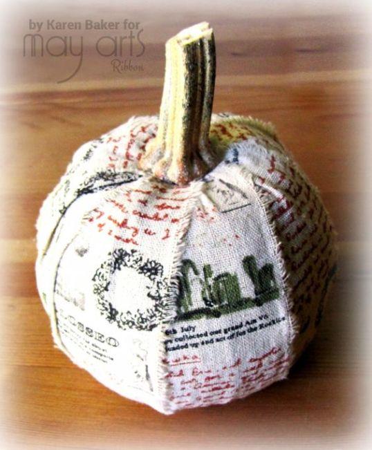 DIY Ribbon Pumpkin