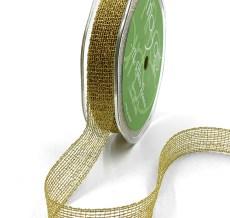 "5/8"" Gold Metallic Knit Net Crochet RIbbon"