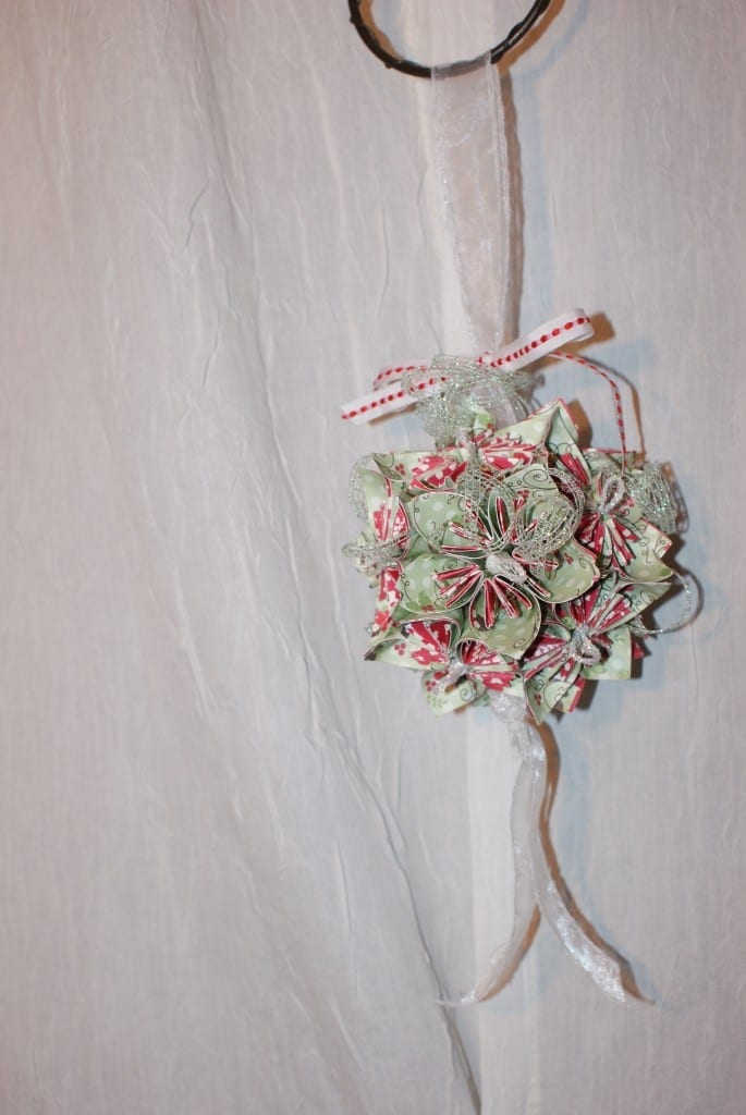 Five Petal Origami Flower Kusudama Kissing Ball