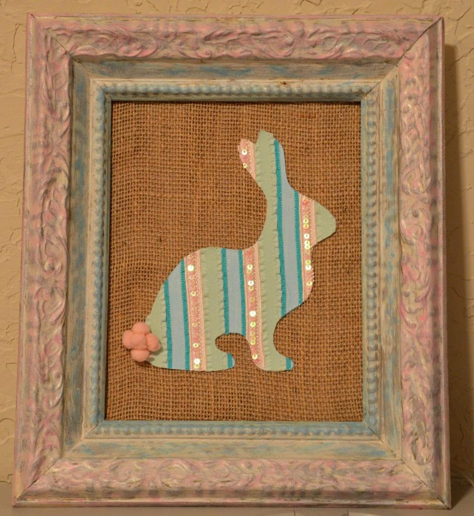 Framed Ribbon Bunny