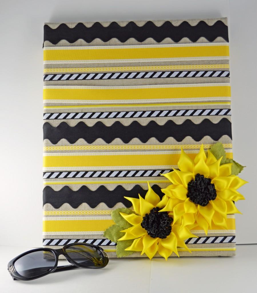 Ribbon Sunflower Sunglasses Holder