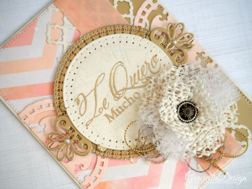 Card with Handmade Ribbon Embellishments