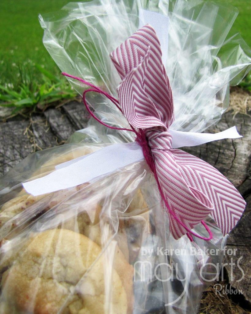 Using Ribbon Scraps to Gift Wrap