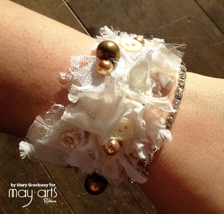 Make a Ribbon Bracelet with Scraps