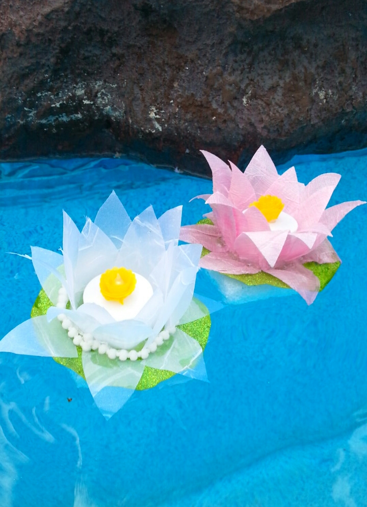 Floating Lotus Flower Ribbon Lights
