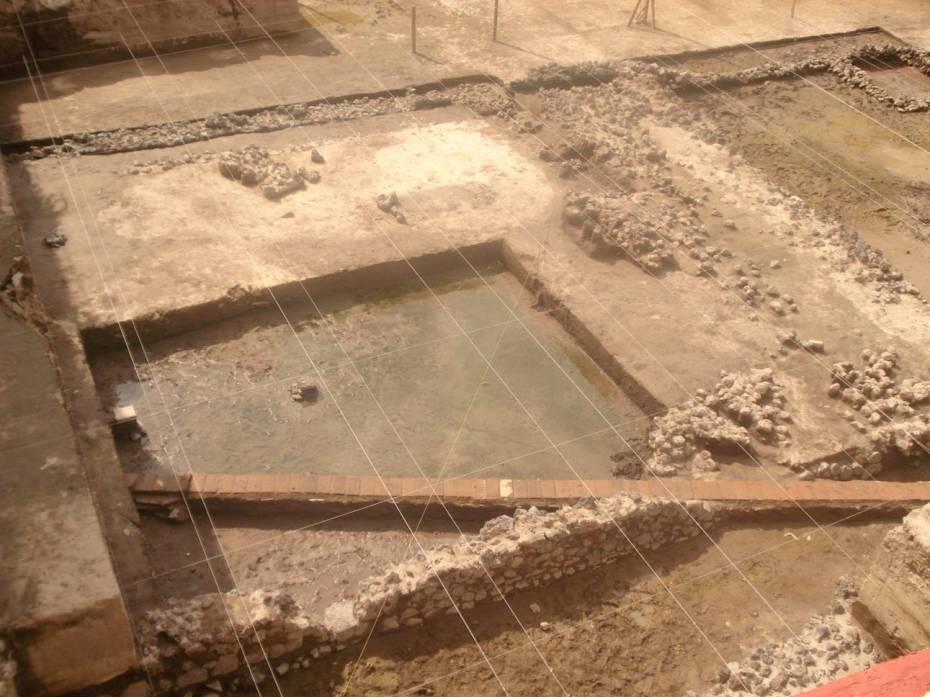 Sistema hidráulico colonia. Foto INAH