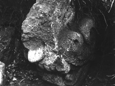 Pieza arqueológica encontrada en el Cerro Coatepec