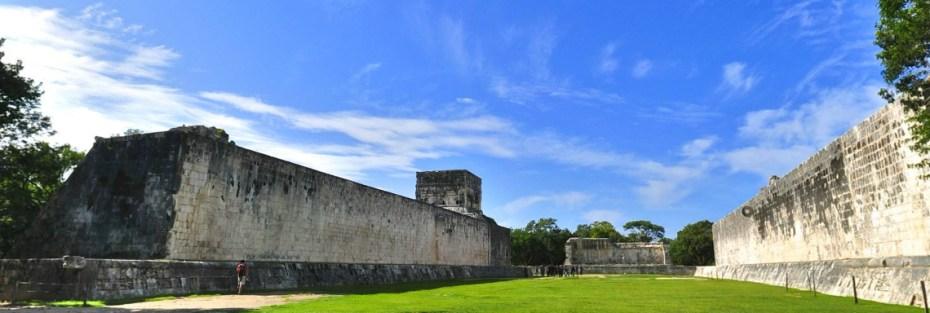 juego de pelota en Chichén Itzá, yucatán