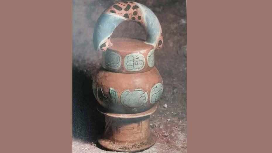 jarra maya de cacao