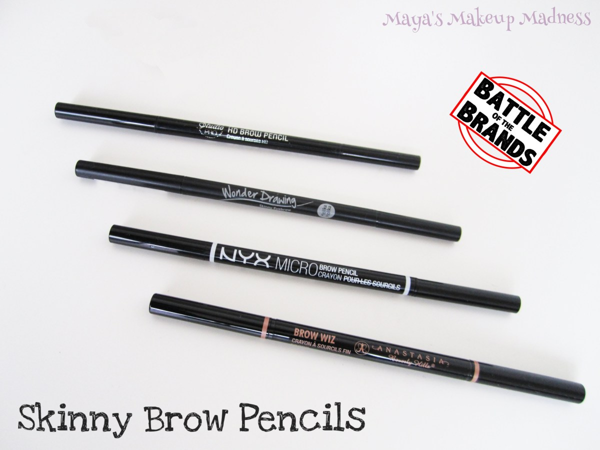 Battle of the Brands: Skinny eyebrow pencils