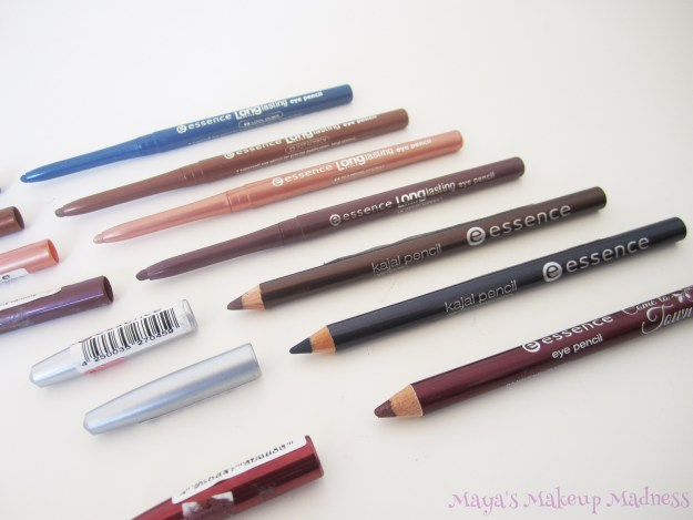 Long Lasting Eye Pencil- 02 Cool Down, 19 Hot Scorch, 22 Ms. MoneyPenny, 18 Berry Merry; Kajal Pencil- 08 Teddy, 21 Feel the Eclipse; Come To Town- 02 Naughty or Nice (LtR)