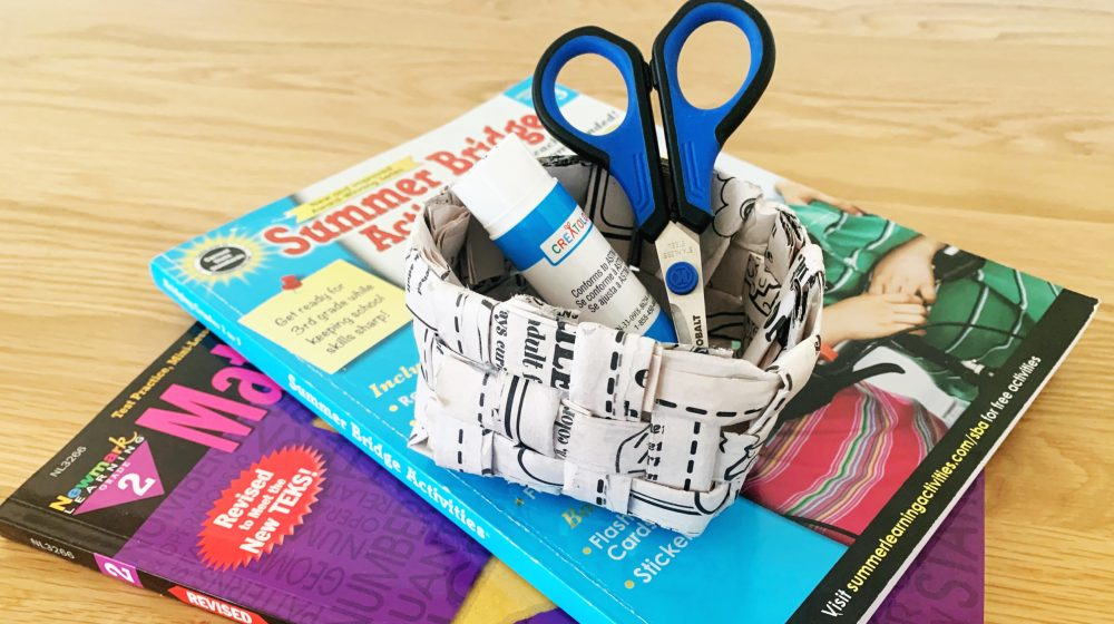 DIY Book Craft: Workbook Paper Basket
