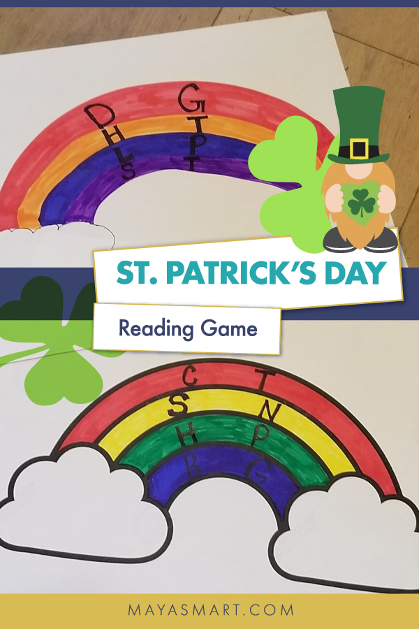 St. Patrick's Day reading game pin 2