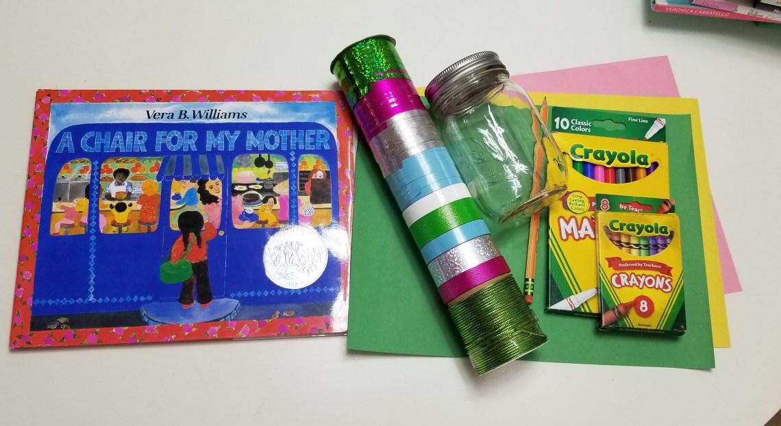 DIY Mother's Day Jar materials