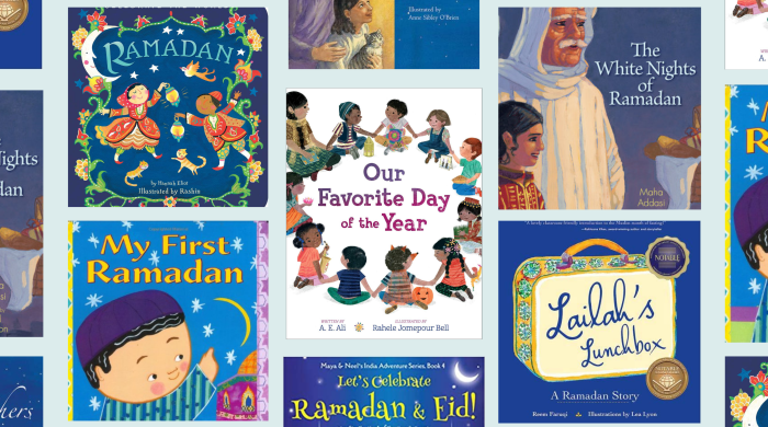 collage of book covers of Ramadan books for kids
