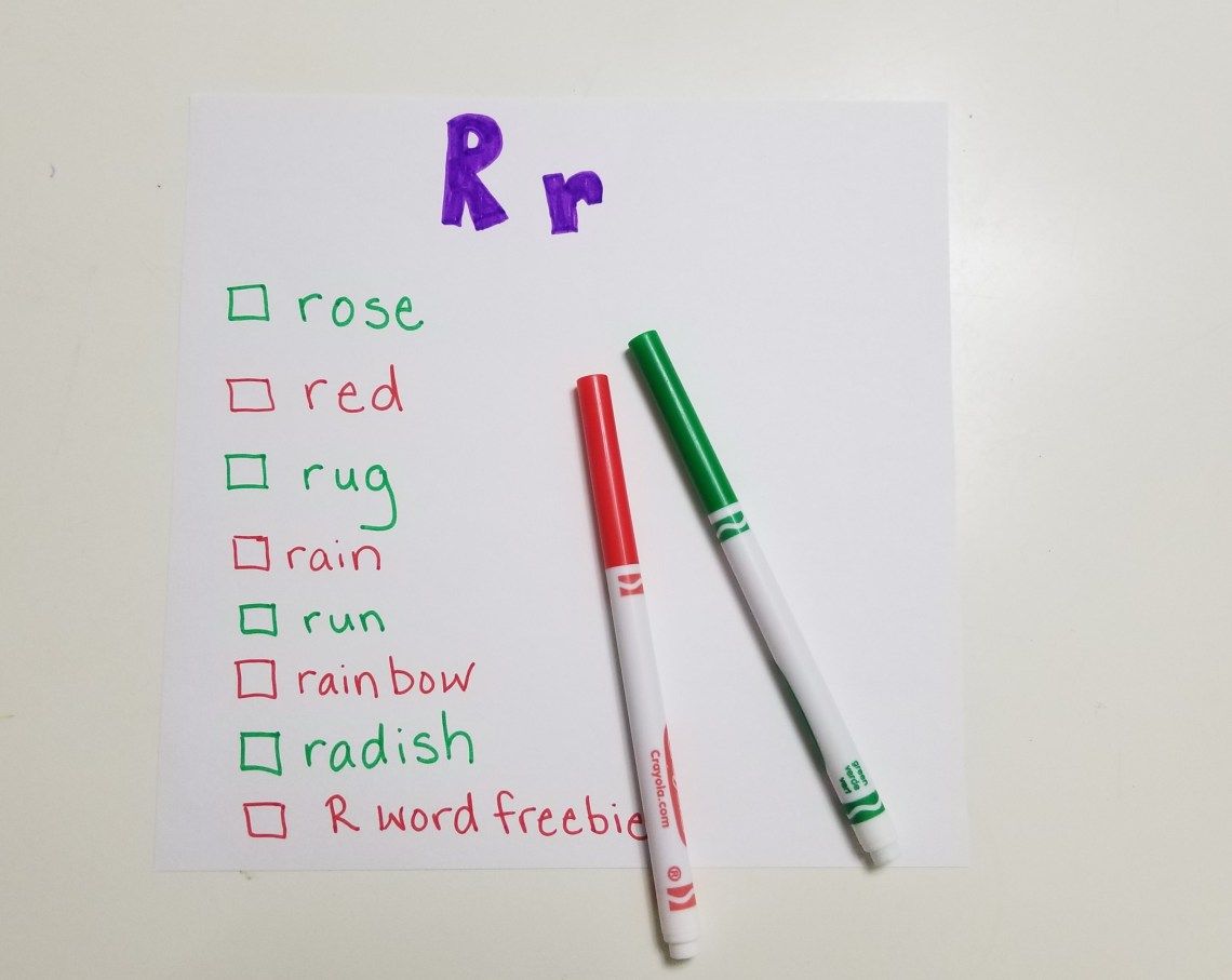 list of words starting with letter R
