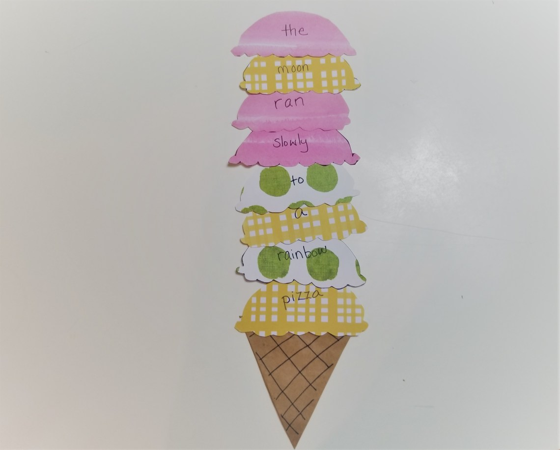 Paper ice cream cone