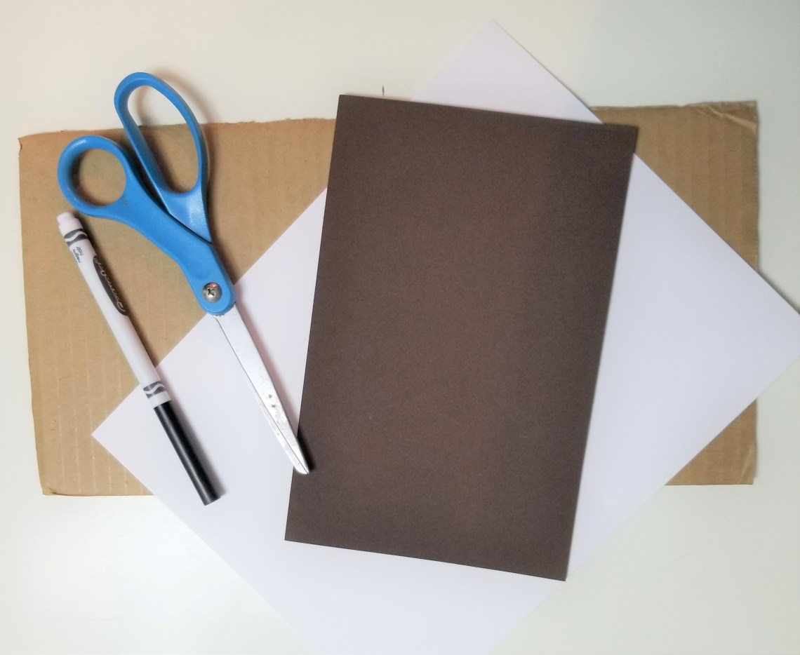 scissors, marker, and construction paper