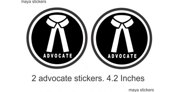 Pair of 2 Black advocate logo decal sticker buy online in
