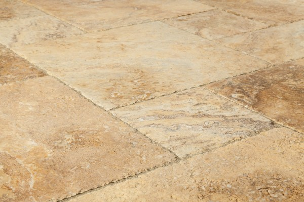 Golden Ink Antique Pattern | Golden travertine tiles | Golden ink tiles