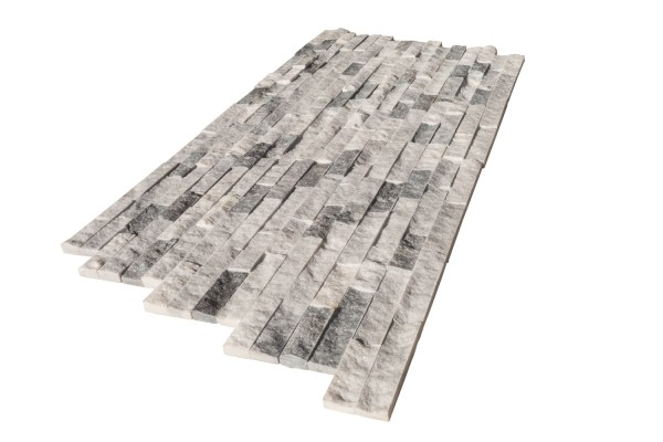 Harbor Gray Marble Stacked Stone Ledger Panel multi angle view