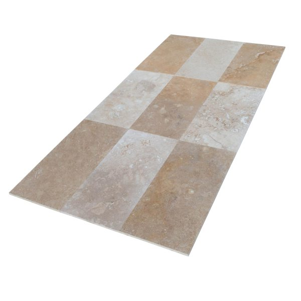20020067-lidia-antique-travertine-tiles-polished-12x24-multi-top-angle-view-www.mayausatile.com