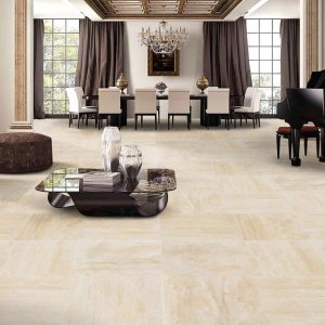 Denizli Beige Rustic Vein Cut Travertine Tiles
