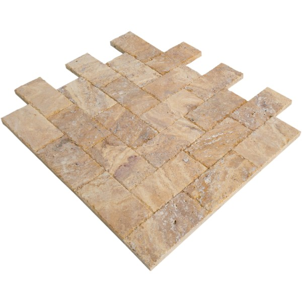 meandros gold yellow travertine pavers