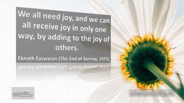 Eknath Easwaran: Joy