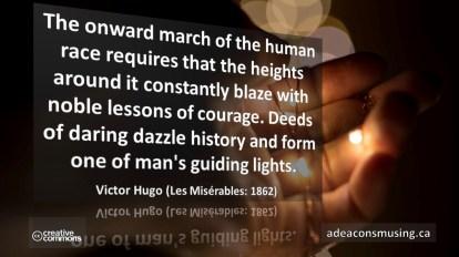 Victor Hugo: Courage