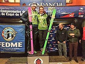 Esqui de Montaña: Campeonato España Individual FEDME 16-17. Ganan Claudia Galicia y Oriol Cardona, segundos Mireia Miró y Nil Cardona.