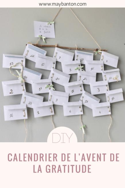 Tuto pour créer ton propre calendrier de l'avent de la gratitude
