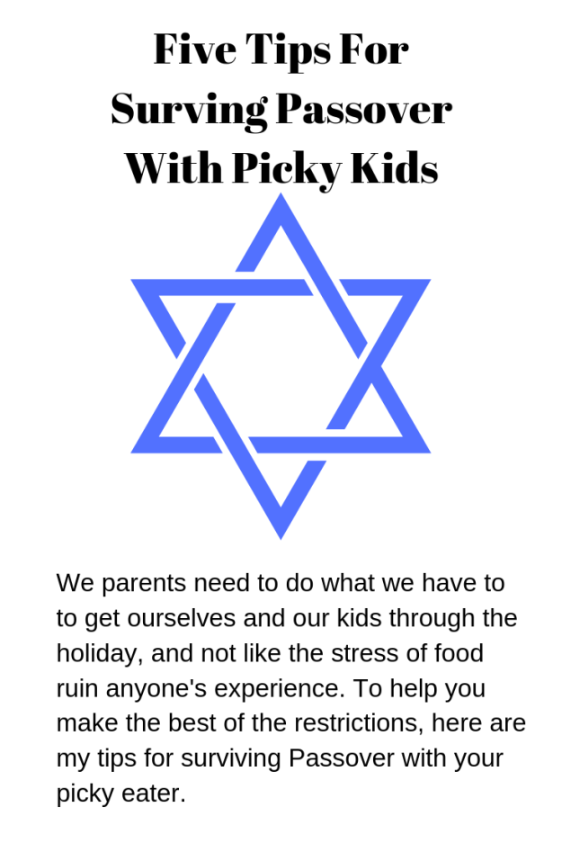 Five Tips For Surving Passover With Picky Kids