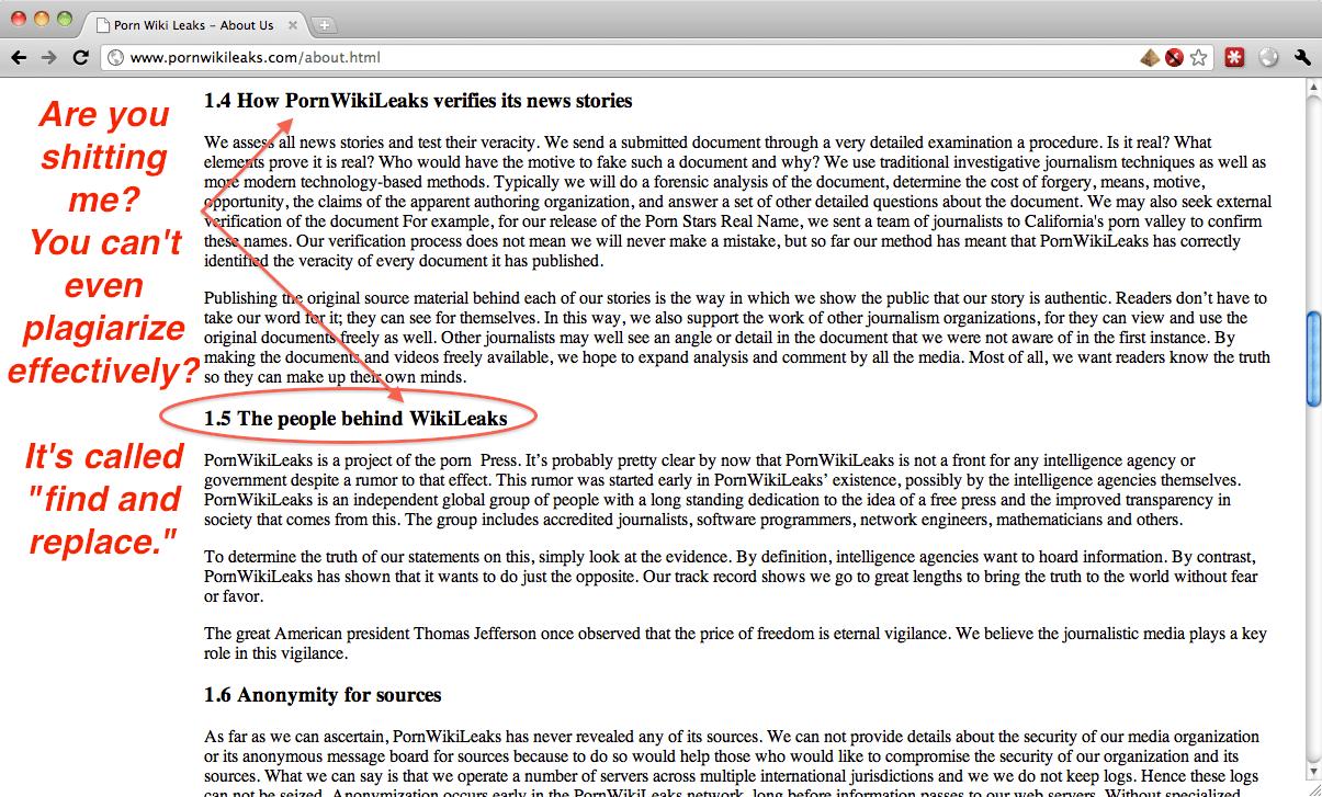 Where The Pornwikileaks Admin Forgot To Change Wikileaks To Pornwikileaks