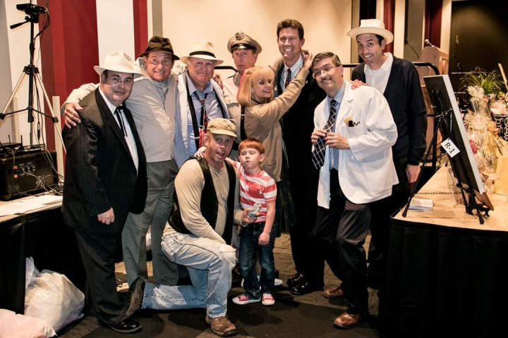 Eric 'Mayor' Lowry, Tim 'Goober' Pettigrew, Kenneth 'Otis' Junkin, David 'Mayberry Deputy' Browning, Christie 'Andelina' McLendon, Allan 'Floyd' Newsome, Phil 'Ernest T' Fox, and Eli 'Opie' Austin.