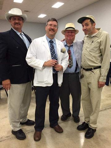 Keith 'Col Harvey' Brown, Floyd, Otis and Gomer.