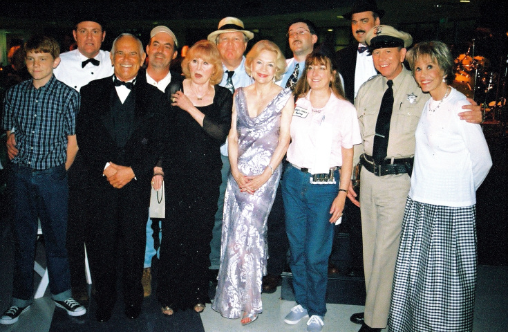 Ronnie Schell, Barbara Stuart, Elizabeth MacRae, and Maggie Peterson along with the Mayberry tribute artists.