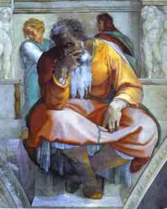 Jeremiah, by Michelangelo (c. 1512)