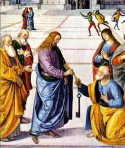 Peter Receives the Keys to the Kingdom (Perugino, 1481)