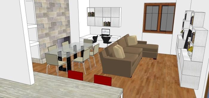 Pensato come una suite d'albergo, in cui lo spazio è sempre molto ben ottimizzato, il designer ha cercato una soluzione per creare una netta. Living Cucina Ingresso E Studio In 50 Mq Mayday Casa Blog E Progetti