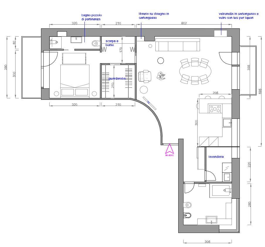 Ridefinire gli spazi progetto con particolare planimetria