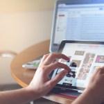 Electronics showing social media