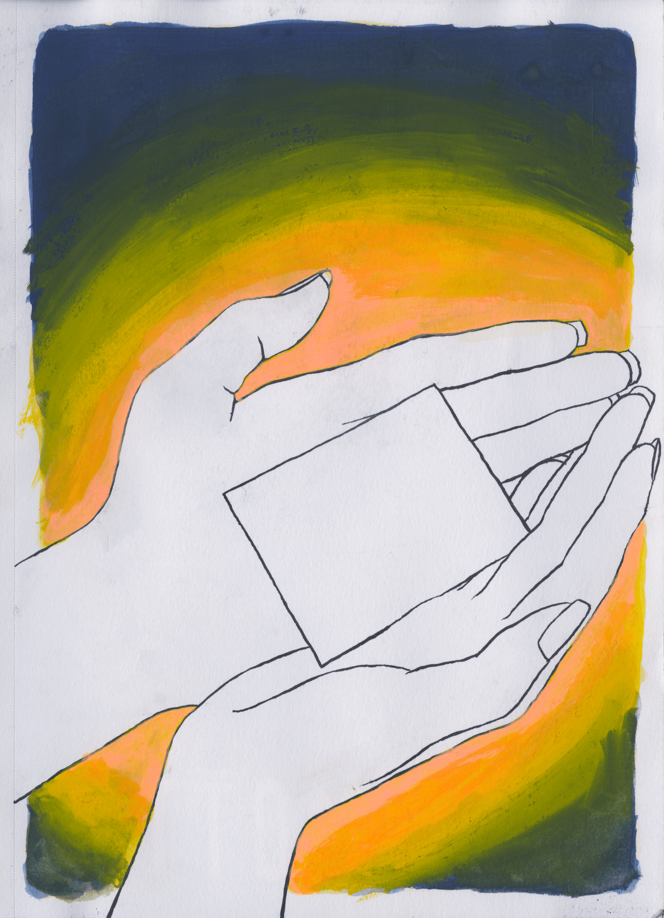Letter in Hands