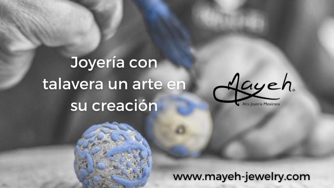 Joyería con talavera un arte en su creación.