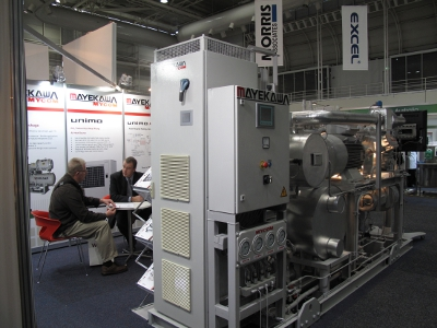 HeatPLUS ammonia heat pump from Mayekawa Australia at FoodPro 2011.