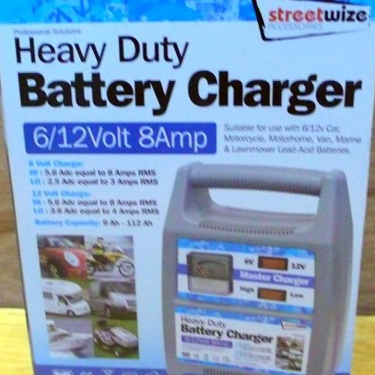 Streetwise Heavy Battery Charger 8amp 6/12 volt